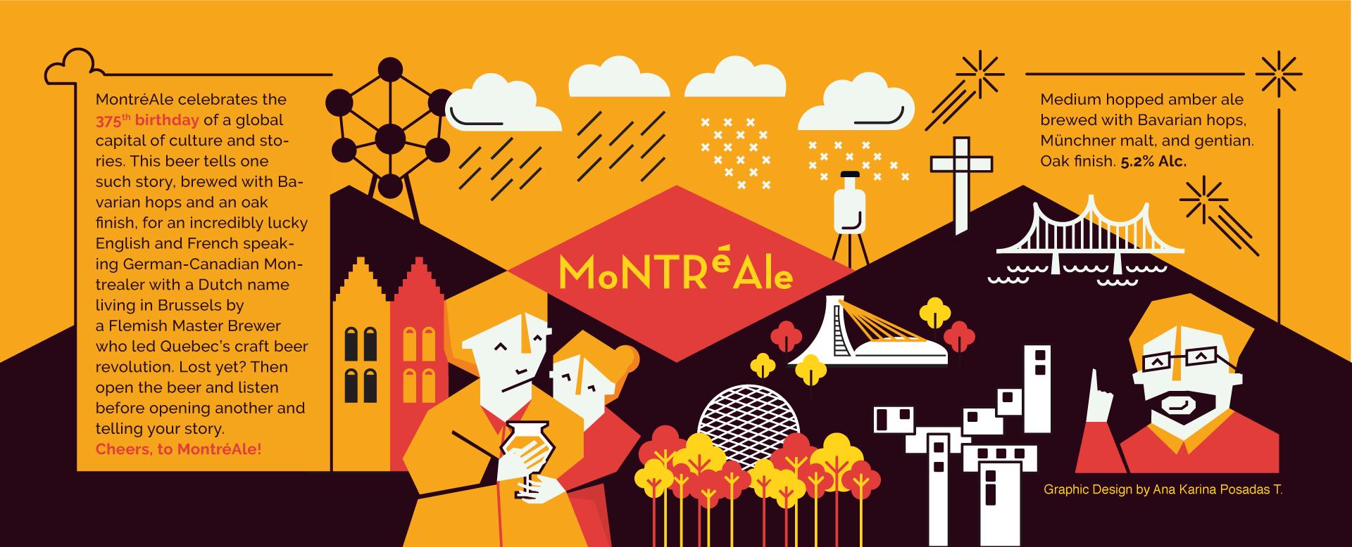 MontrealeBeerLabel©AnaKarinaPosadasTerán