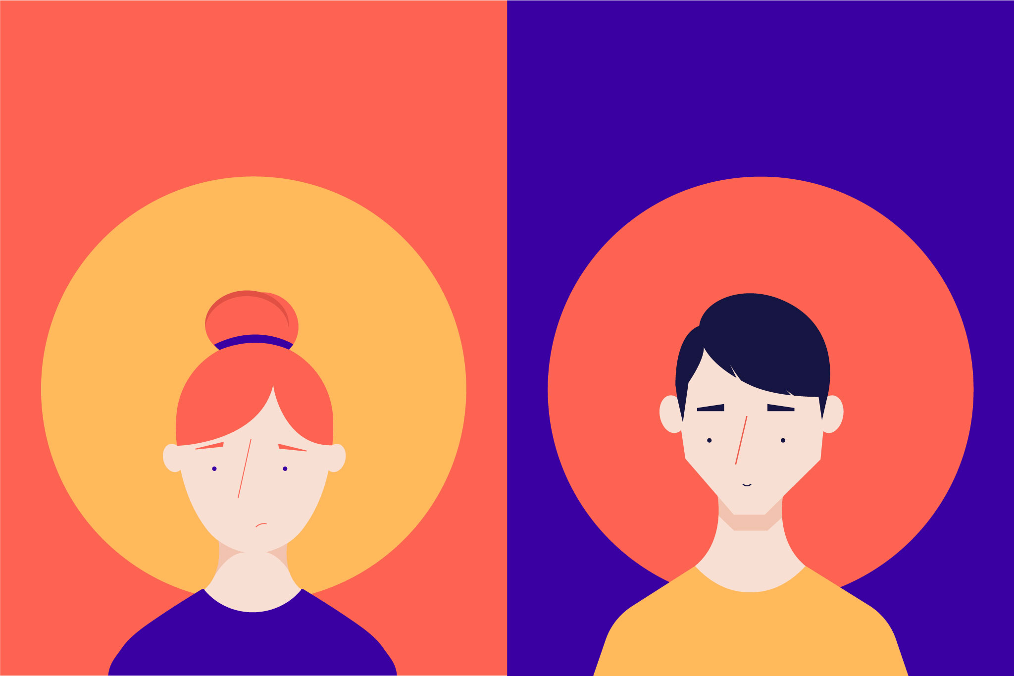 Coronavirus Elearning Characters illustrated for Árbol Creative Studio